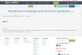 Introduction to Reading Comics  & Comics Vocabulary
