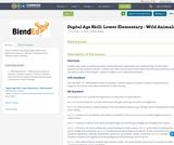 Digital Age Skill: Lower Elementary - Wild Animals