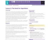 CS Principles 2019-2020 3.2: The Need for Algorithms