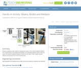 Means, Modes and Medians