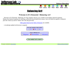 Element Balancing Act Game