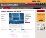Photonic Materials and Devices, Spring 2006