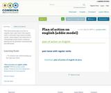 Plan of action on english (addie model)