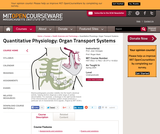 Quantitative Physiology: Organ Transport Systems, Spring 2004