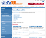 MAA Online: Classroom Capsules and Notes