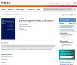 Electromagnetic Fields, 2nd ed.