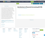 Introduction to Financial Accounting (AC 101)