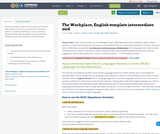 The Workplace, English template intermediate mid