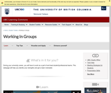 Learning Toolkit: Group Work