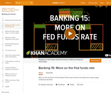 Banking, Money, Finance: Federal Funds Rate and the Money Supply