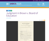 Judgment in Brown v. Board of Education