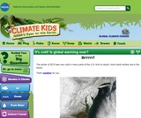 Climate Kids: It's Cold! Is Global Warming Over?