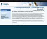 Contemporary French culture in a global context