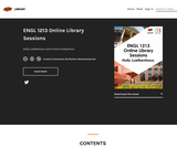 ENGL 1213 Online Library Sessions