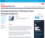 Endangered Species 2: Working to Save Endangered Species