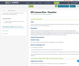 EFL Lesson Plan - Timeline