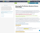 Planning For The Weather, Mandarin Chinese, Novice-High