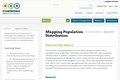 Mapping Population Distribution