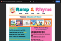 Romp & Rhyme Storytime Parent Activity Sheet: Shades of Blue