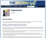 Common Core Corner: Make Sense of Problems…
