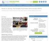 The Portable Fluid Power Demonstrator (PFPD)