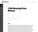 Sharing Prize Money
