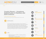 Country Movers – Visualizing Spatial Scales in Planetary and Earth Sciences