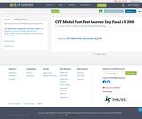CFT Model Post Test Answer Key Final 6 5 2018