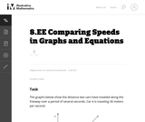 Comparing Speeds in Graphs and Equations