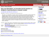 EASY JAVA SIMULATION, INNOVATIVE TOOL FOR TEACHERS AS DESIGNERS OF GRAVITY-PHYSICS COMPUTER MODELS