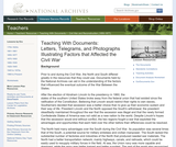 Letters, Telegrams, and Photographs Illustrating Factors That Affected the Civil War