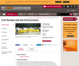 Civil Society and the Environment, Spring 2005