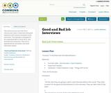 Good and Bad Job Interviews