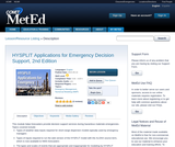 HYSPLIT Applications for Emergency Decision Support, 2nd Edition
