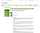 AP Central: The Genetics of Antibody Diversity