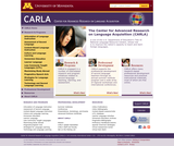The Center for Advanced Research on Language Acquisition (CARLA)