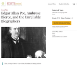 Edgar Allan Poe, Ambrose Bierce, and the Unreliable Biographers