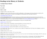 Readings in the History of Aesthetics