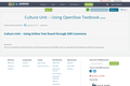 Culture Unit -- Using OpenStax Textbook