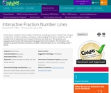 Interactive Fraction Number Lines
