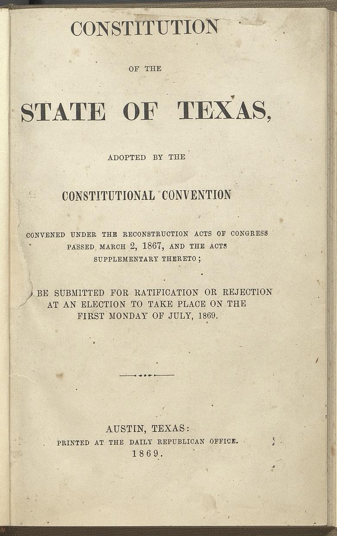 Constitution of 1869