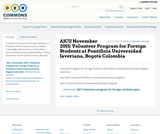 AJCU November 2015: Volunteer Program for Foreign Students at Pontificia Universidad Javeriana, Bogotá Colombia