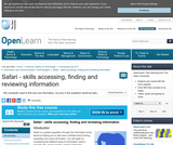 Safari - Skills Accessing, FInding and Reviewing Information
