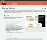 Research on Color and Contrast