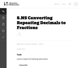 8.NS Converting Repeating Decimals to Fractions