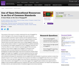 Use of Open Educational Resources in an Era of Common Standards: A Case Study on the Use of EngageNY
