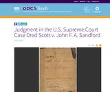 Judgment in the U.S. Supreme Court Case Dred Scott v. John F. A. Sandford