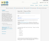 Quiz RL.5: Parts of Plot