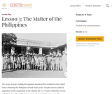 Lesson 3: The Matter of the Philippines