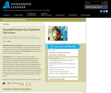 Essential Science for Teachers: Life Science